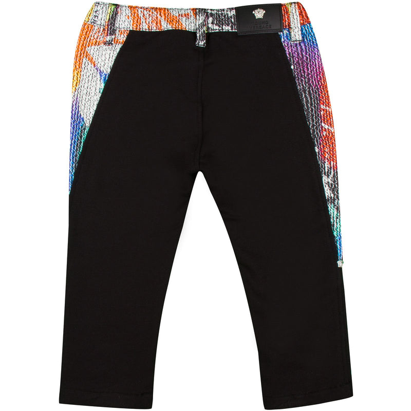 Baby Boys Black Trousers With Multicolor Elasticated Waistband - CÉMAROSE | Children's Fashion Store - 2
