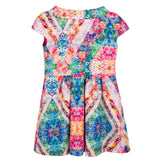 Girls Multicolor Floral Kaleidoscope Dress With Zip-up - CÉMAROSE | Children's Fashion Store - 2