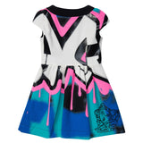 Girls Multicolor Zip-up Dress With Versace Brand Logo - CÉMAROSE | Children's Fashion Store - 2