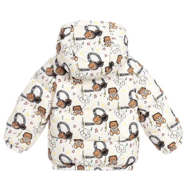 Baby Boys Ivory Padded Down Puffer Coat
