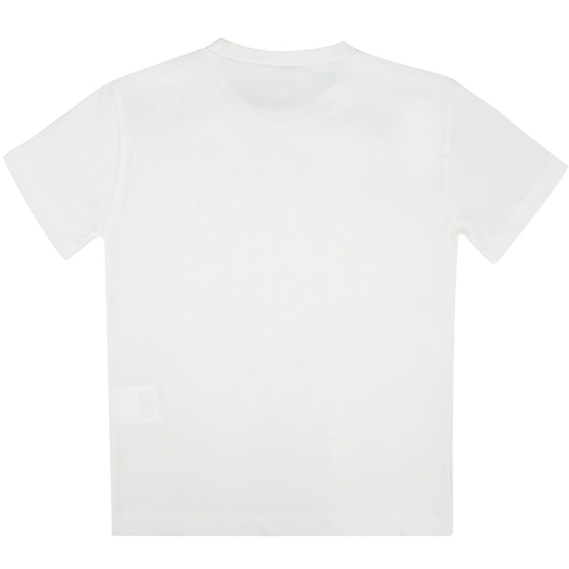 Boys Ivory Medusa Studded Logo Cotton Jersey T-Shirt - CÉMAROSE | Children's Fashion Store - 2