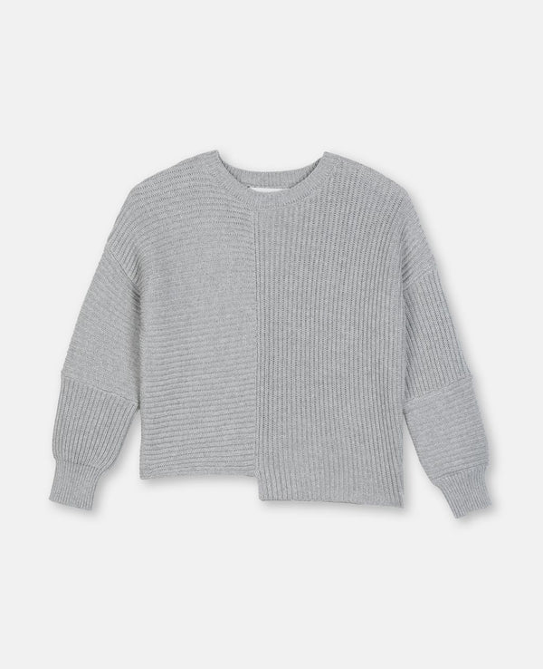 Girls Grey Cotton Sweater