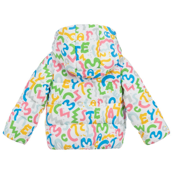 Baby Girls Squiggle Puffer Jacket
