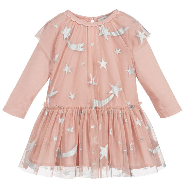 Baby Girls Pink & Silver Star Dress