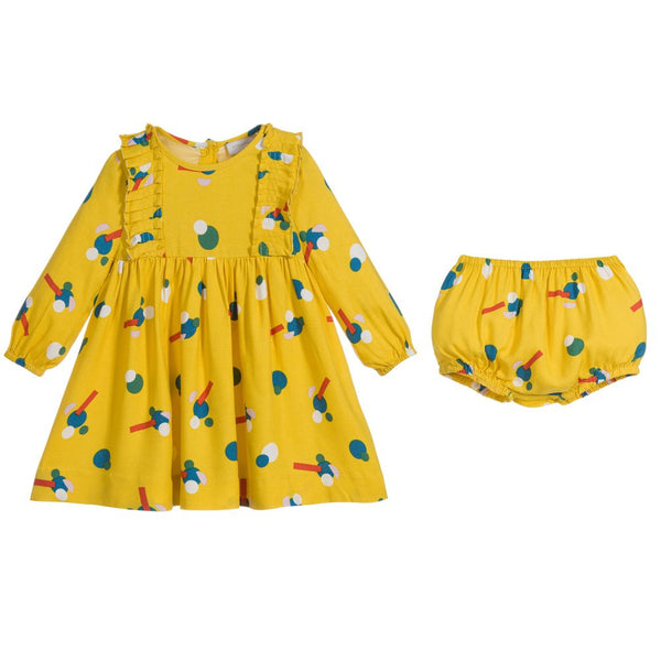 Baby Girls Yellow Flower Dress Set