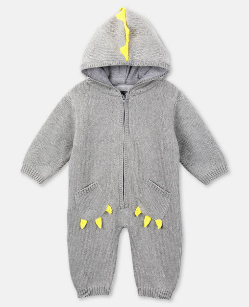 Baby Boys Grey Knit Jumpsuit