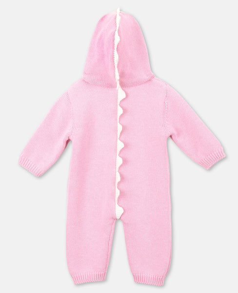 Baby Girls Pink Knit Jumpsuit