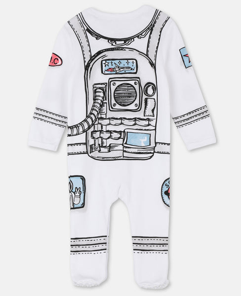 Baby Boys White Printing Cotton Babysuit