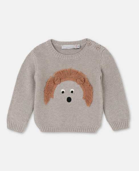 Baby Boys & Girls Beige Cotton Sweater