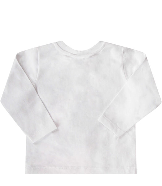 Baby Girls White Pattern Cotton Top