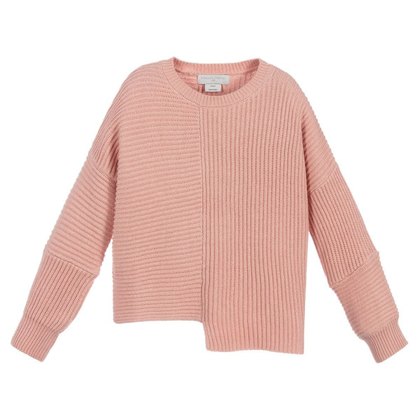 Girls Pink Cotton Sweater