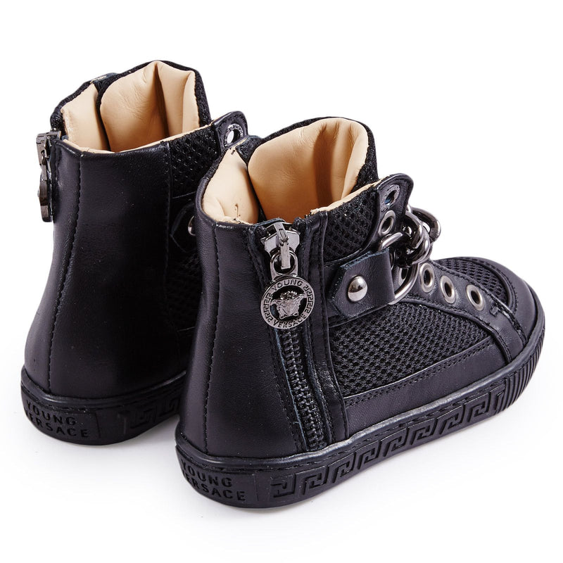 Girls Black Suede High-Top Trainers - CÉMAROSE | Children's Fashion Store - 2