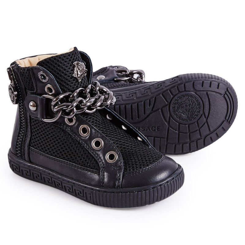 Girls Black Suede High-Top Trainers - CÉMAROSE | Children's Fashion Store - 3