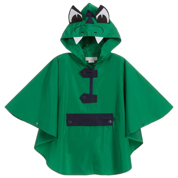 Boys & Girls Green Dragon Packable Raincoat