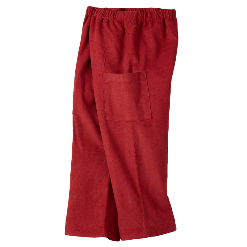 Baby Boys Rust Red Cotton Corduroy Trousers - CÉMAROSE | Children's Fashion Store - 3