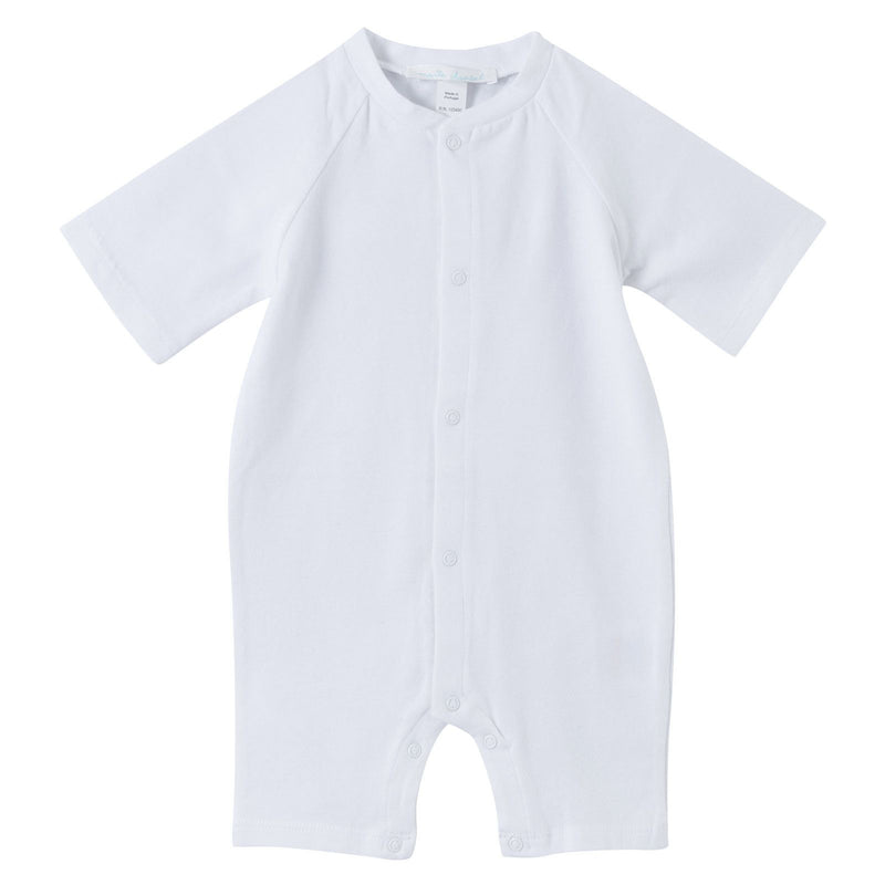 Baby White Cotton Babygrow With Angel Wings - CÉMAROSE | Children's Fashion Store - 1