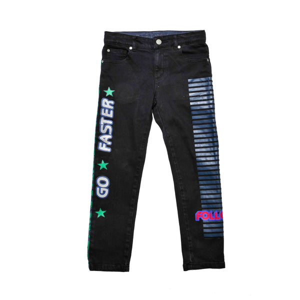 Boys & Girls Dark Grey Denim 'Flame' Trouser - CÉMAROSE | Children's Fashion Store
