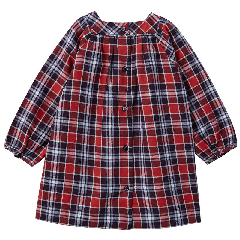 Baby Girls Red Tartan Dress With Bloomers - CÉMAROSE | Children's Fashion Store - 2