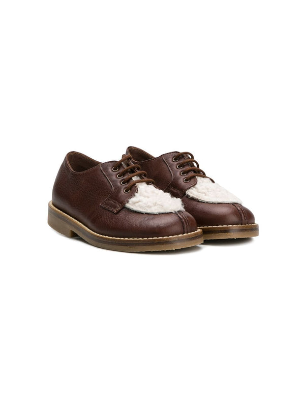 Boys & Girls Brown Leather Shoes