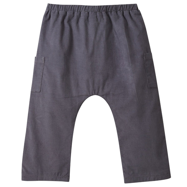 Baby Boys Dark Grey Cotton Corduroy Trousers - CÉMAROSE | Children's Fashion Store - 2