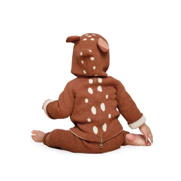 Girls Brown Bambi Hooded Top