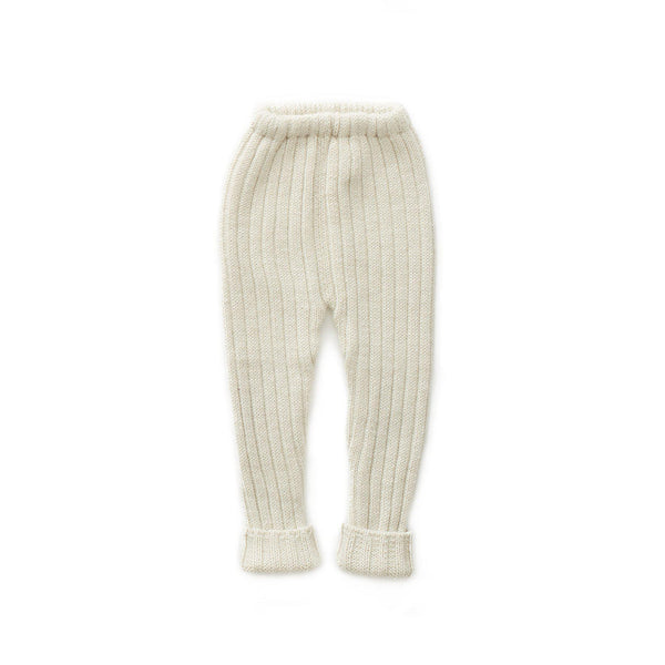 Girls White Alpaca Trousers