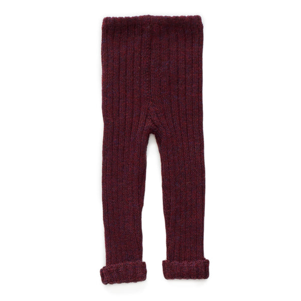Girls Dark Red Alpaca Trousers