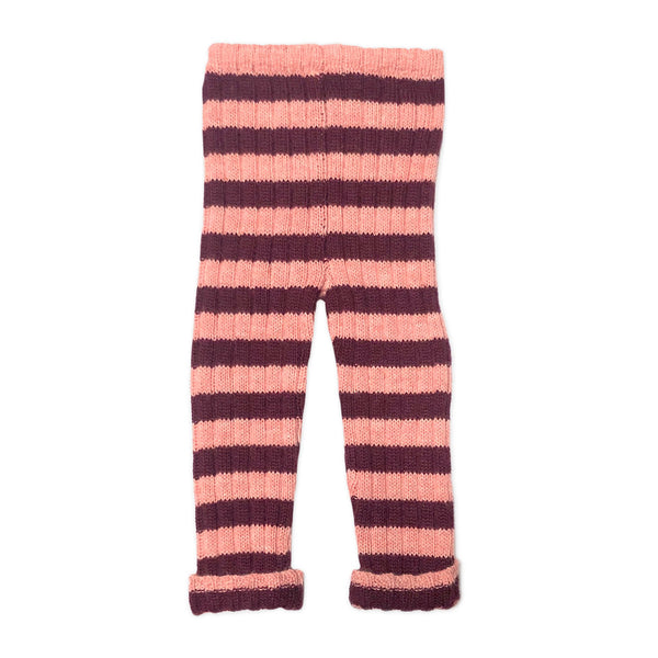 Girls Pink Striped Alpaca Trousers