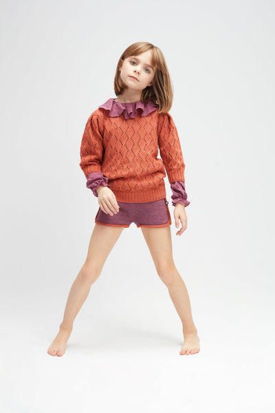 Girls Apricot Alpaca Sweater
