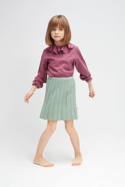 Girls Light Green Alpaca Skirt