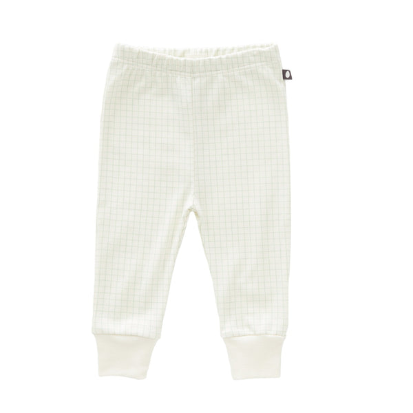 Baby Boys & Girls White Check Cotton Leggings