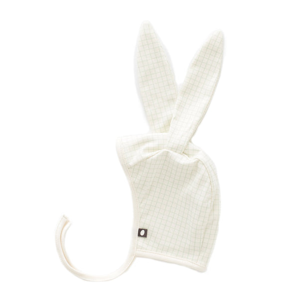 Baby Girls White Check Cotton Hat