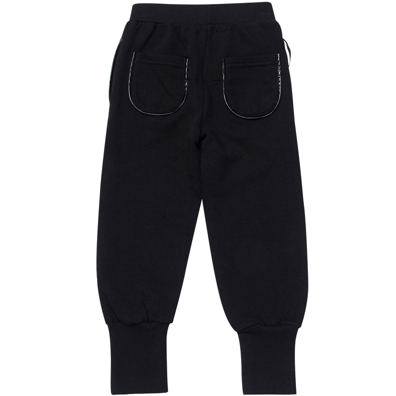 Boys&Girls Black Tight Cuffs Trouses With Black Printed Trims On Legs - CÉMAROSE | Children's Fashion Store - 2
