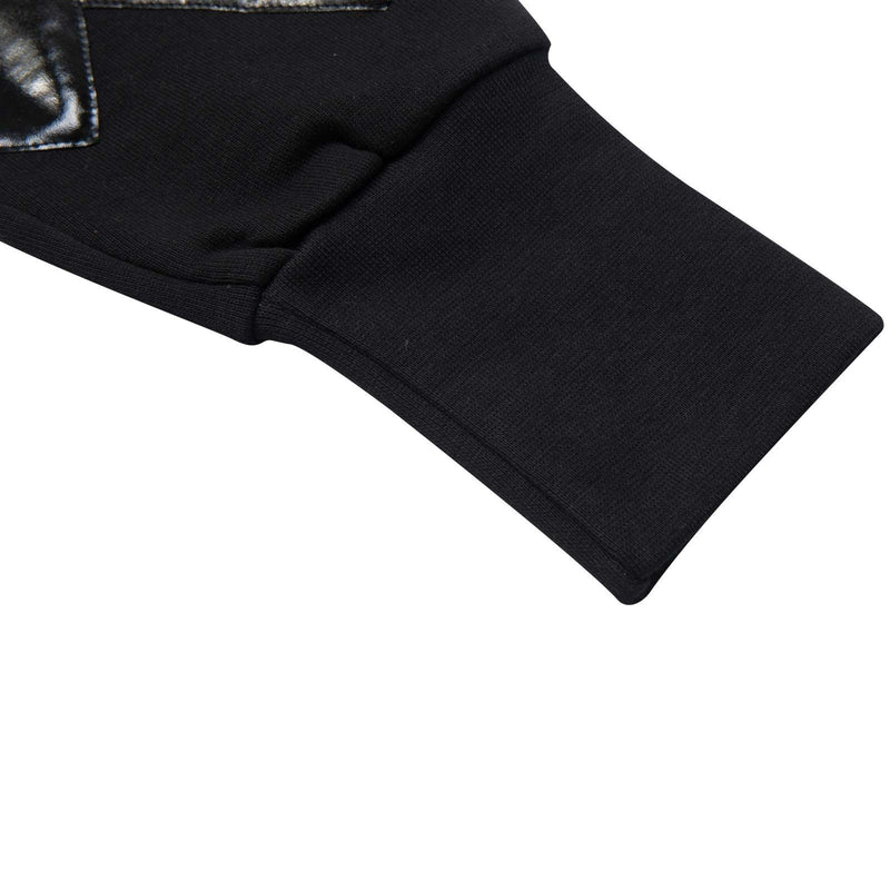 Boys&Girls Black Tight Cuffs Trouses With Black Printed Trims On Legs - CÉMAROSE | Children's Fashion Store - 5