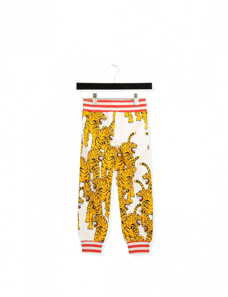 Bengal Tiger White Sweatpants - CÉMAROSE | Children's Fashion Store - 1