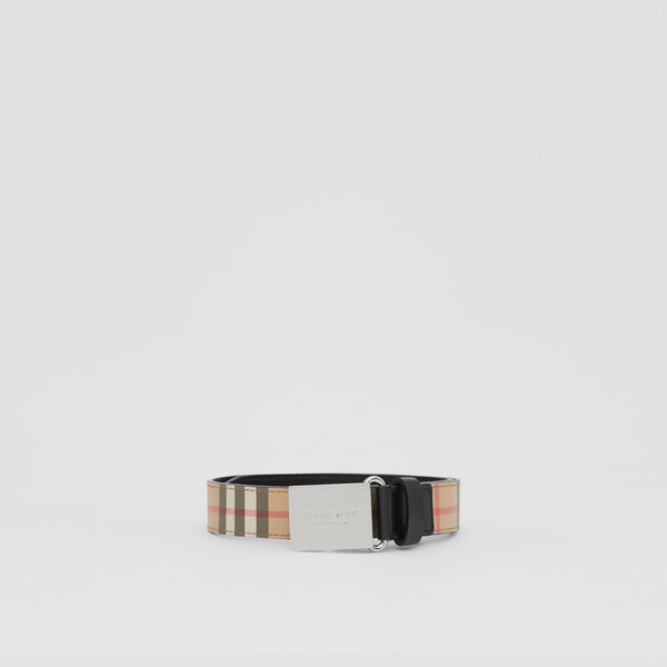 Boys Archive Beige Leather Belt