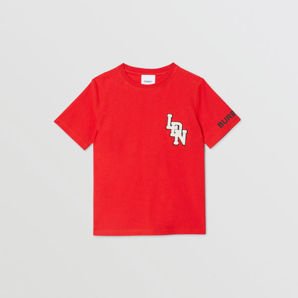 Boys Bright Red Cotton T-shirt