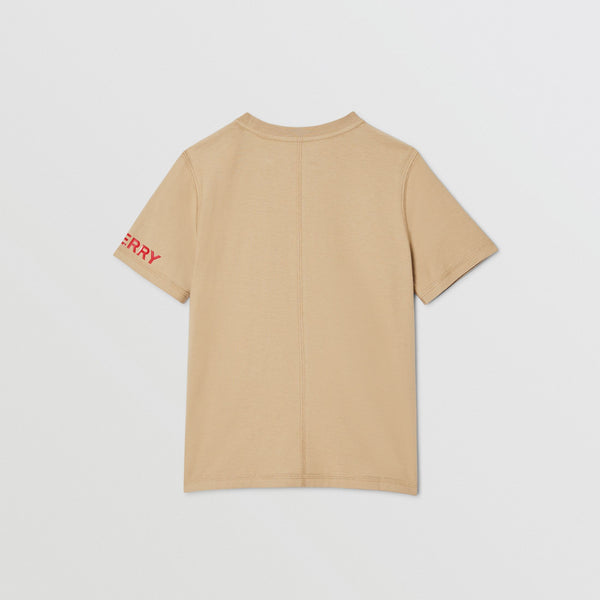 Boys Archive Beige Cotton T-shirt