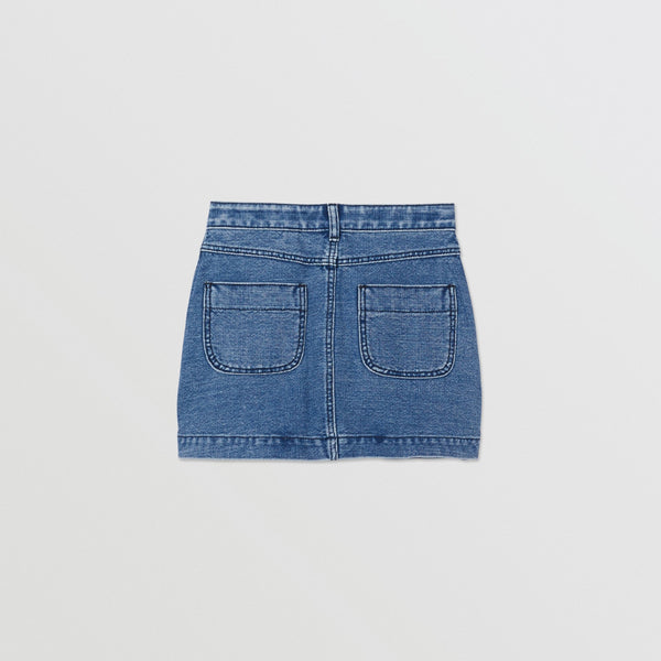 Girls Blue Logo  Denim Skirt