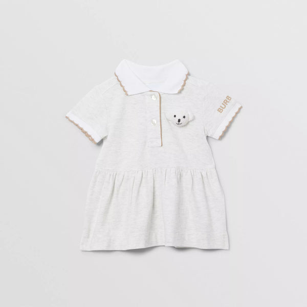Baby Girls Beige Cotton Dress