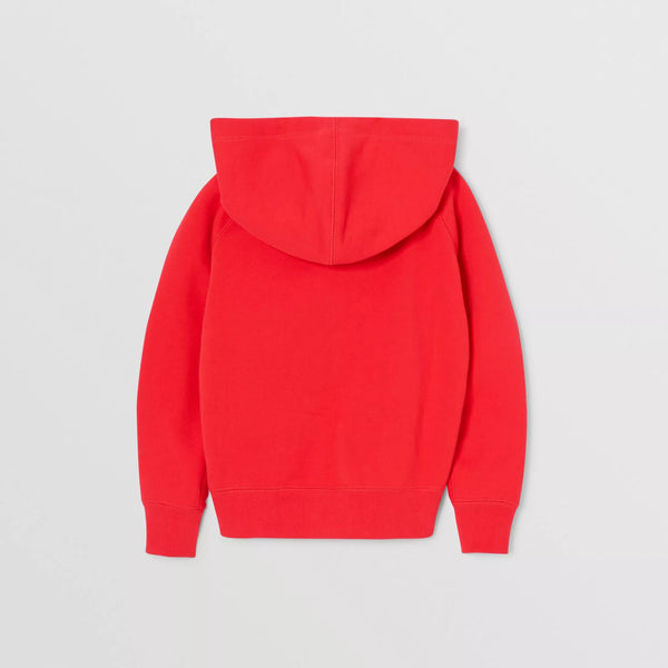 Boys Red Hooded Cotton Top