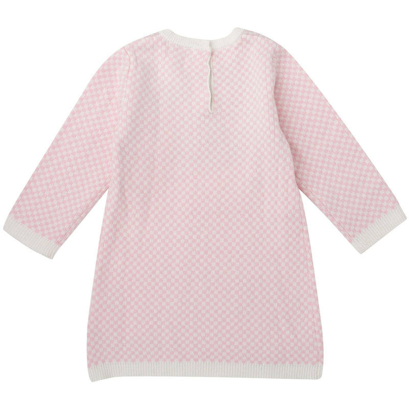 Baby Girls Pink&White Tiger Embroidered Kintted Sweater Dress - CÉMAROSE | Children's Fashion Store - 2
