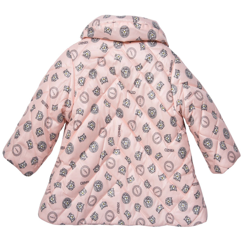 Baby Girls Pink Tigers Head Printed Padded Jacket - CÉMAROSE | Children's Fashion Store - 2