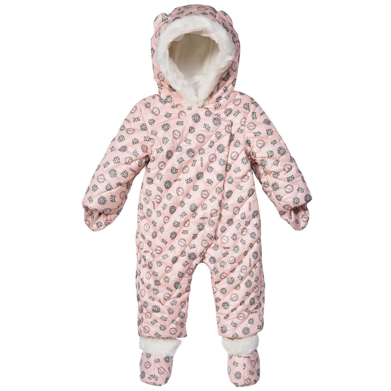 Baby Girls Red Tiger Printed Snowsuit&Bootees With Synthetic fur trims - CÉMAROSE | Children's Fashion Store - 1