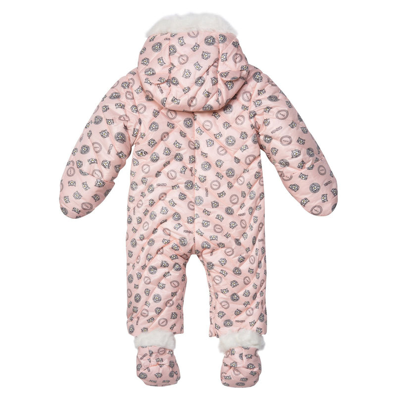 Baby Girls Red Tiger Printed Snowsuit&Bootees With Synthetic fur trims - CÉMAROSE | Children's Fashion Store - 2
