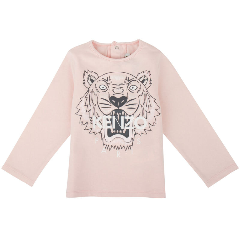 Baby Red Tiger Printed Cotton T-Shirt - CÉMAROSE | Children's Fashion Store - 1