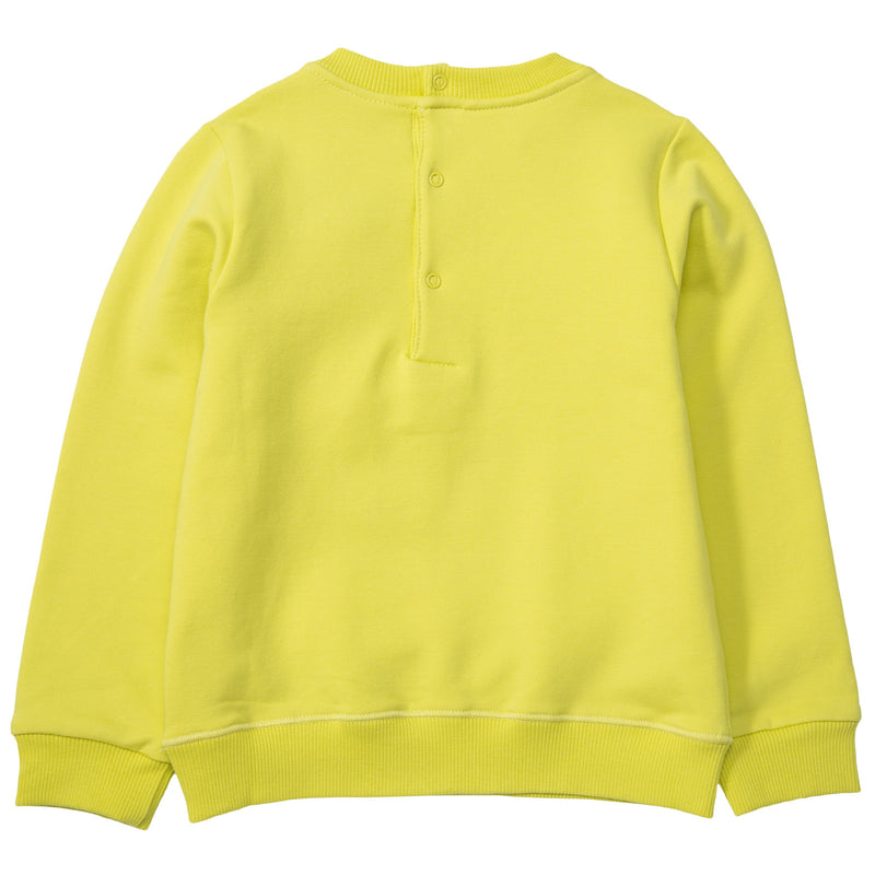 Baby Boys Lime Green Monster Embroidered Sweatshirt - CÉMAROSE | Children's Fashion Store - 2