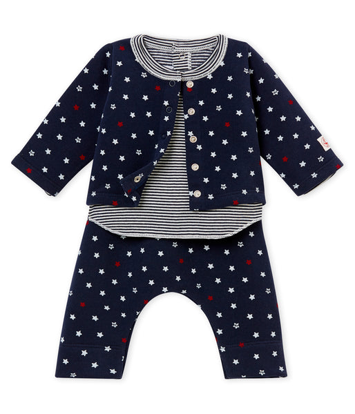 Baby Boys Navy Cotton Sets