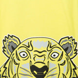 Baby Lime Green Cotton Jersey T-Shirt With Peeking Tiger - CÉMAROSE | Children's Fashion Store - 4