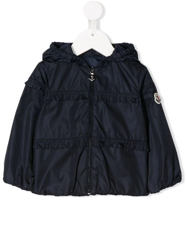 Baby Girls Navy Hooded Jacket